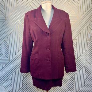 Vivienne Tam Purple Two-Piece Blazer Skirt Suit